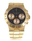 Bulgari Diagono chronograph automatic 18ct gentleman's bracelet watch, ref. CH35G, no. D 1xx,