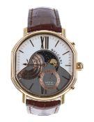 Bulgari Daniel Roth Grande Lune 18k rose gold gentleman's wristwatch, no. BRx P 4x G Mx, the bi-