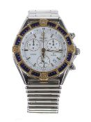 Breitling J Class chronograph stainless steel and gold gentleman's bracelet watch, ref. D53067,