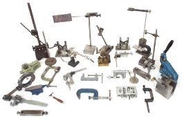 Large quantity of various small workshop clamps and other tools etc