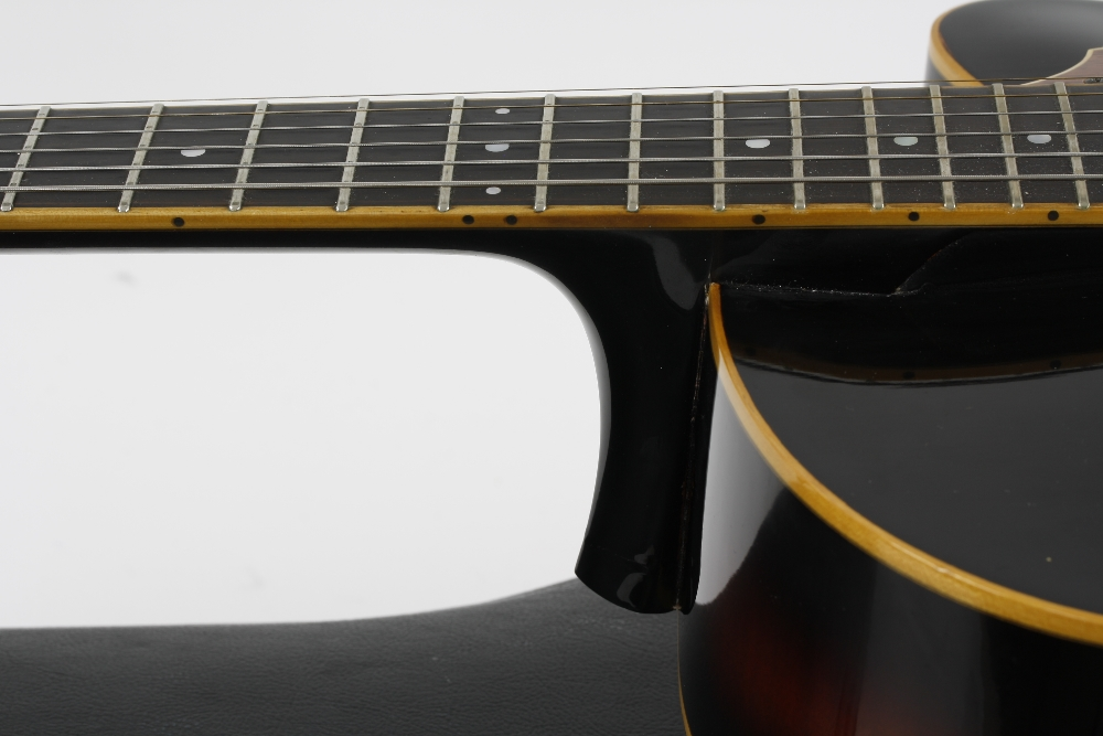 1984 Andy Manson Dove archtop guitar, made in Crowbrough, Sussex, England; Finish: sunburst, small - Image 6 of 11