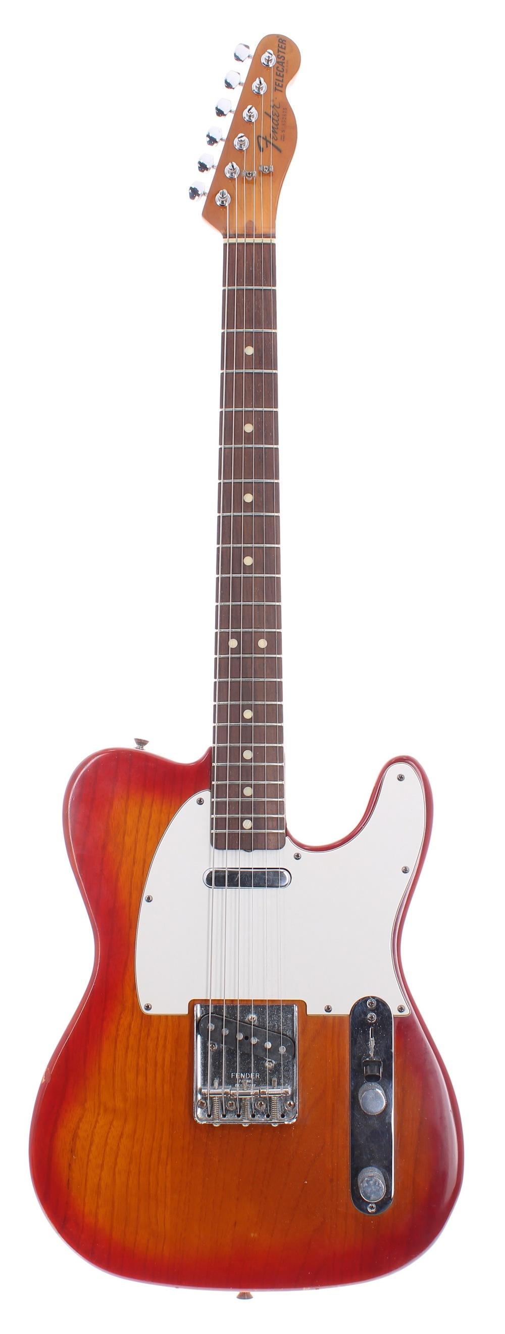 1981 Fender Telecaster electric guitar, made in USA, ser. no. S8xxx5; Finish: sienna sunburst,