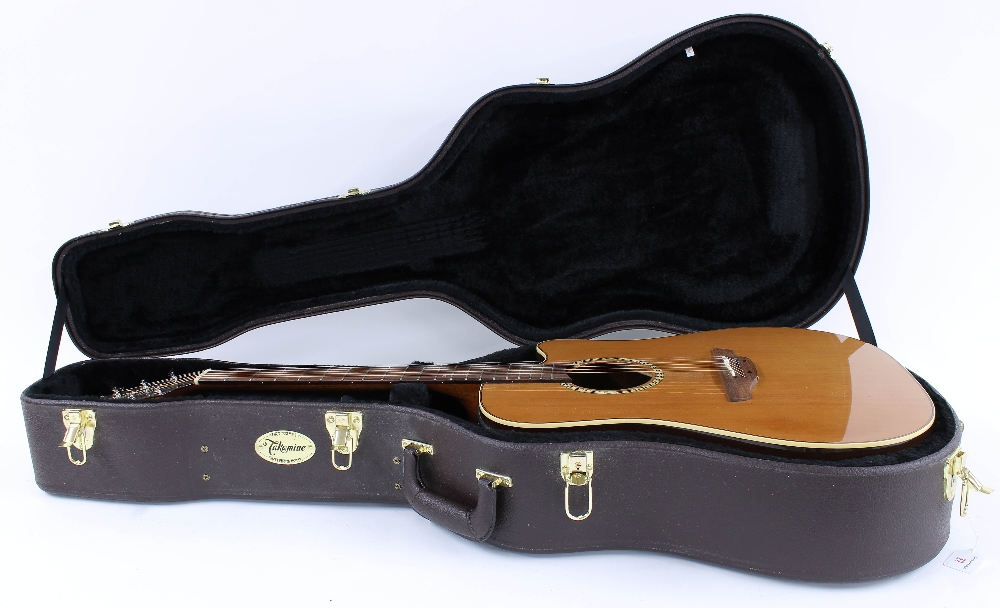 Takamine EF300PS electro-acoustic guitar, made in Japan, ser. no. 09xxxxx8; Back and sides: - Image 3 of 3