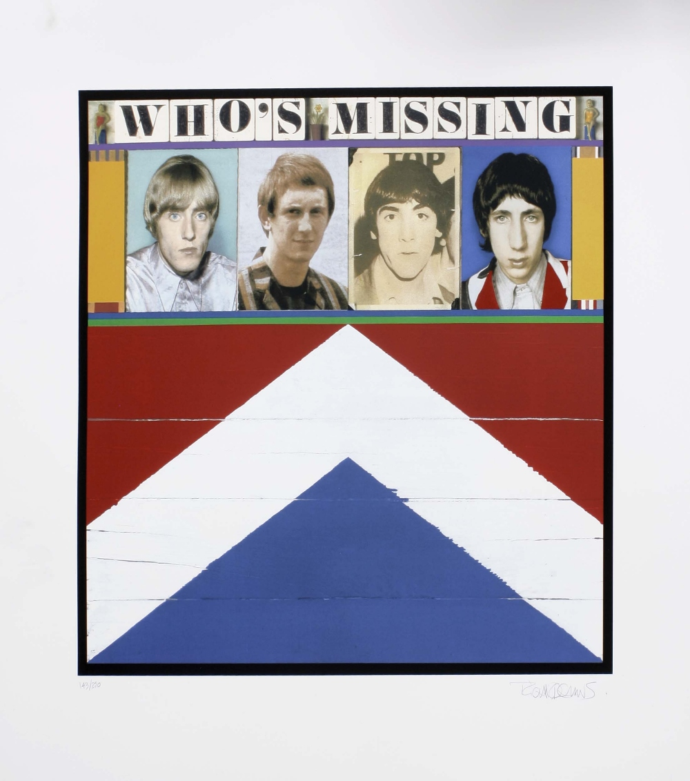 The Who - 'Who's Missing' limited edition signed silk screen print by Richard Evans, signed and