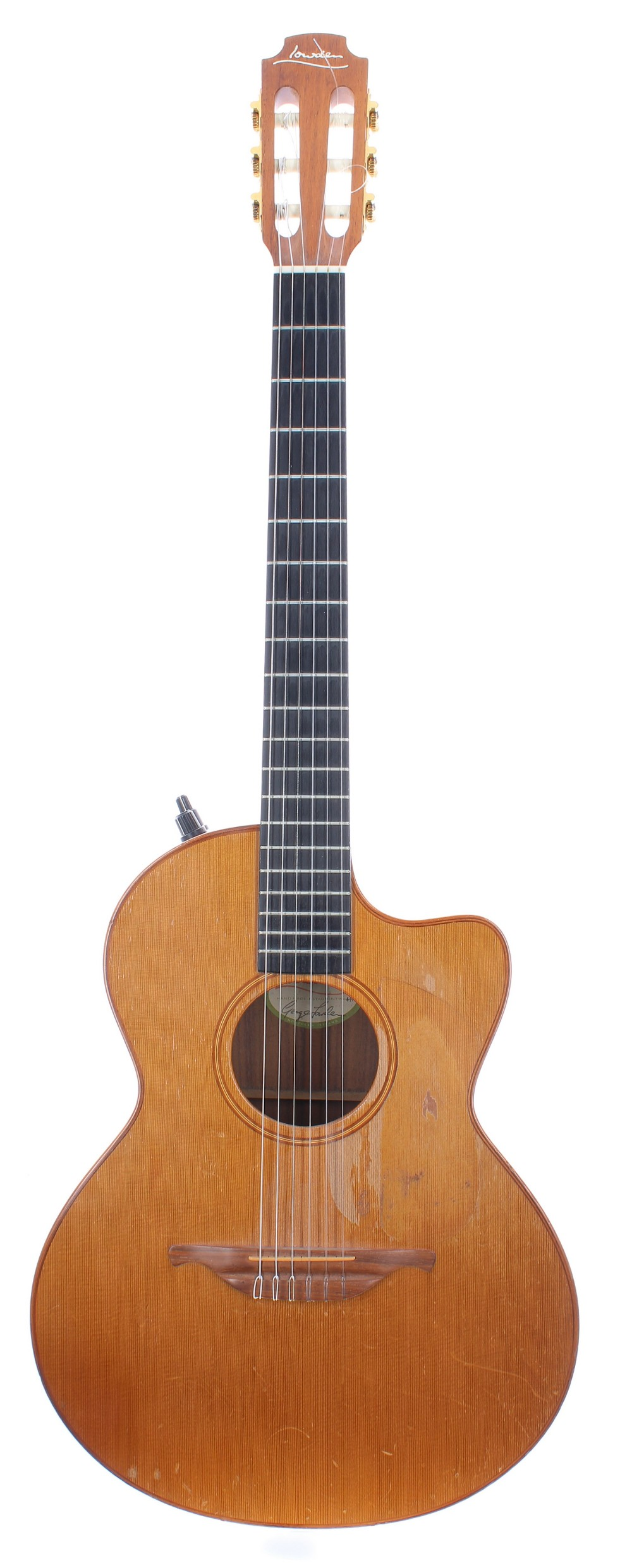 1991 George Lowden S25J nylon string electro-acoustic guitar, made in Northern Ireland, ser. no.