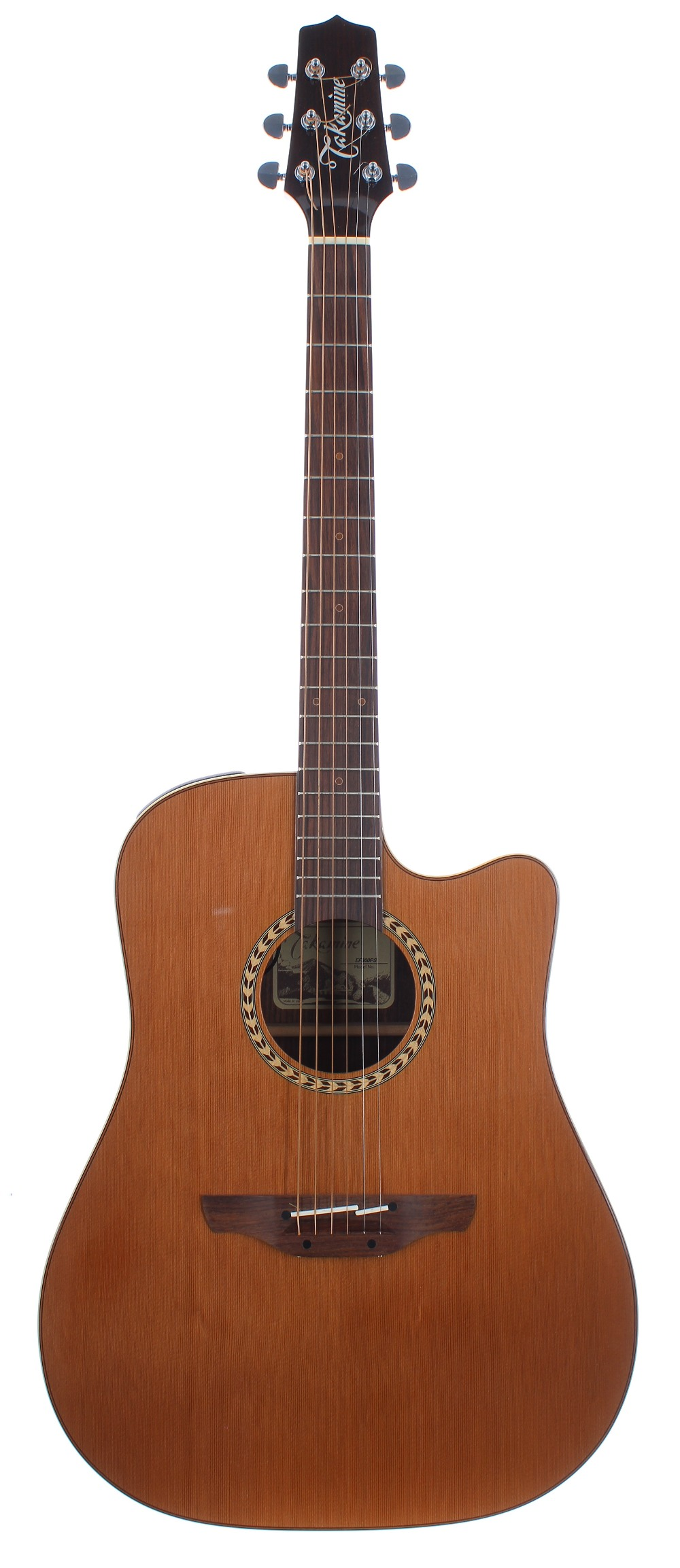 Takamine EF300PS electro-acoustic guitar, made in Japan, ser. no. 09xxxxx8; Back and sides: