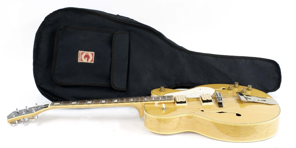 1980s Hondo HL5FBB Fat Boy hollow body electric guitar, ser. no. 88xxxxx9; Finish: natural; - Image 3 of 3