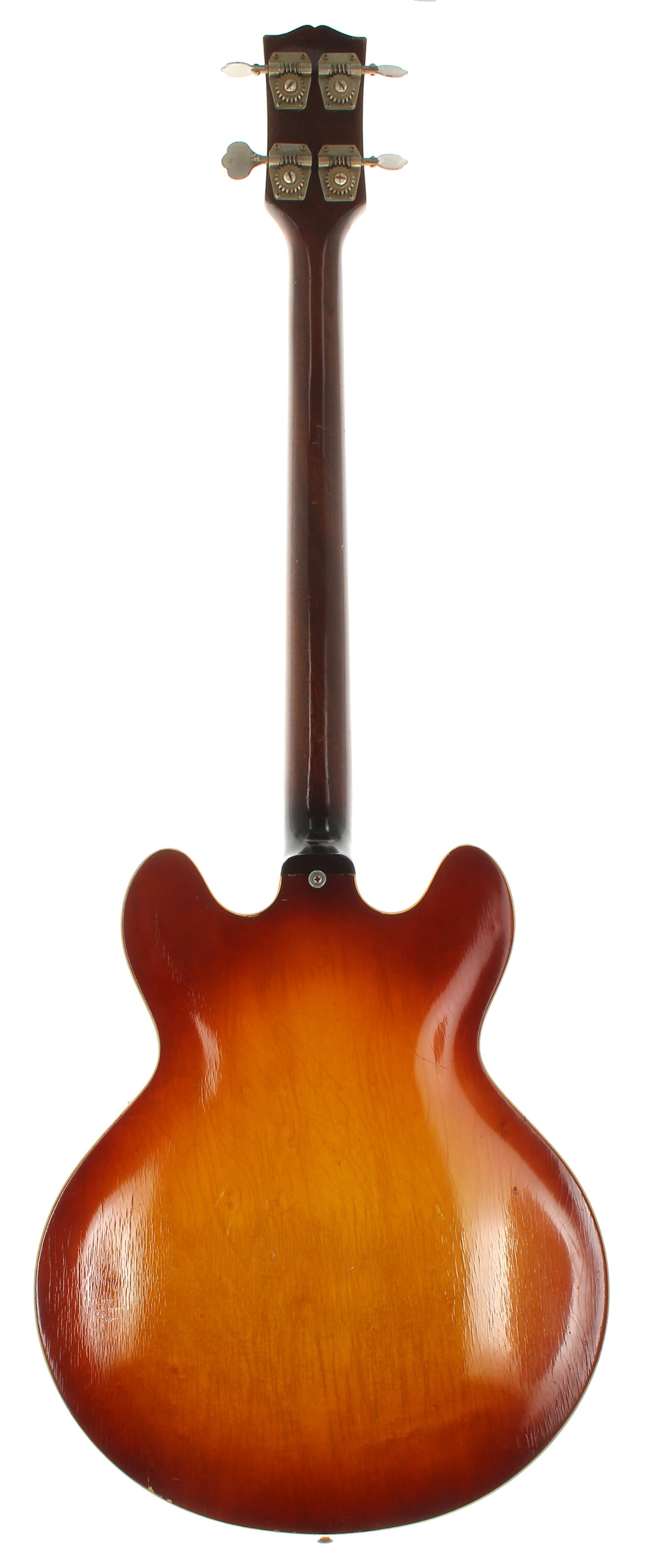 1966 Gibson EB-2 semi-hollow body bass guitar, made in USA, ser. no. 4xxxx6; Finish: sunburst, - Image 2 of 2