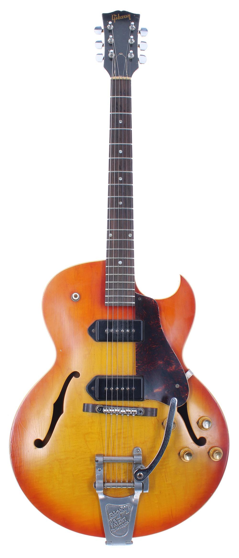 1966 Gibson ES-125 TDC electric guitar, made in USA, ser. no. 4xxxx9; Finish: sunburst, lightly