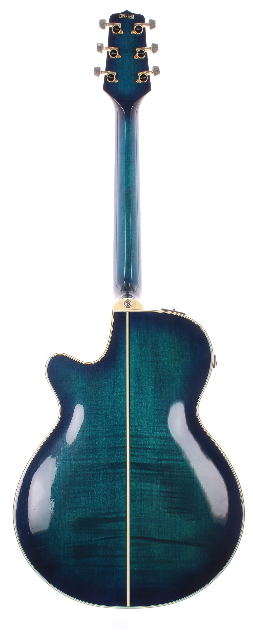 Takamine EF591 MB electro-acoustic guitar, made in Japan; Finish: blue burst, minor surface - Image 2 of 3