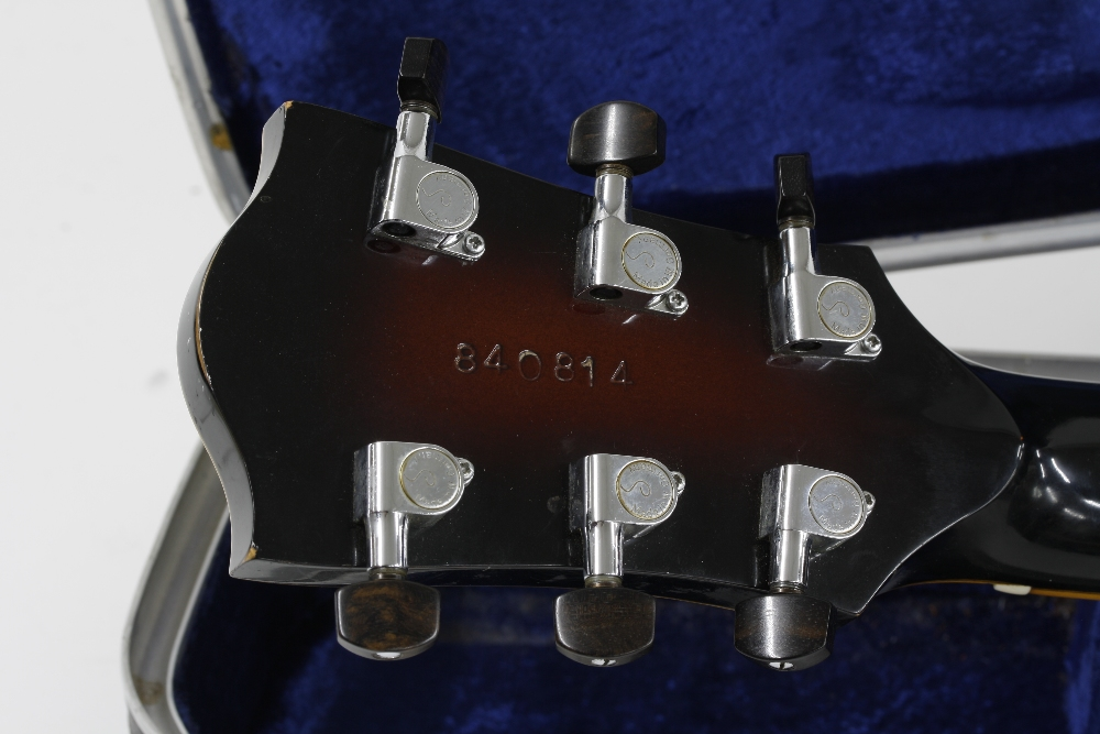 1984 Andy Manson Dove archtop guitar, made in Crowbrough, Sussex, England; Finish: sunburst, small - Image 9 of 11