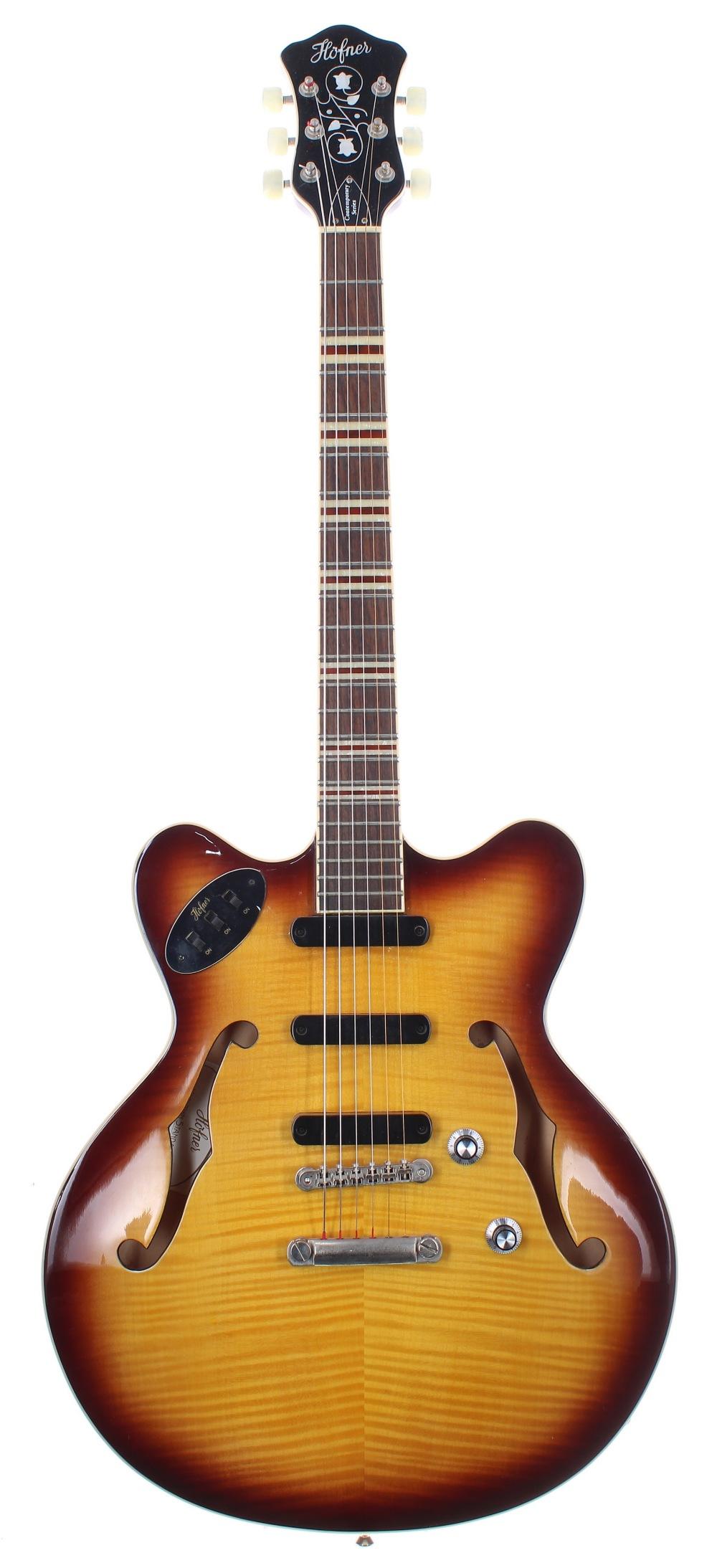Hofner Verythin Standard-CT semi-hollow body electric guitar, ser. no. M0xxxxx12; Finish: