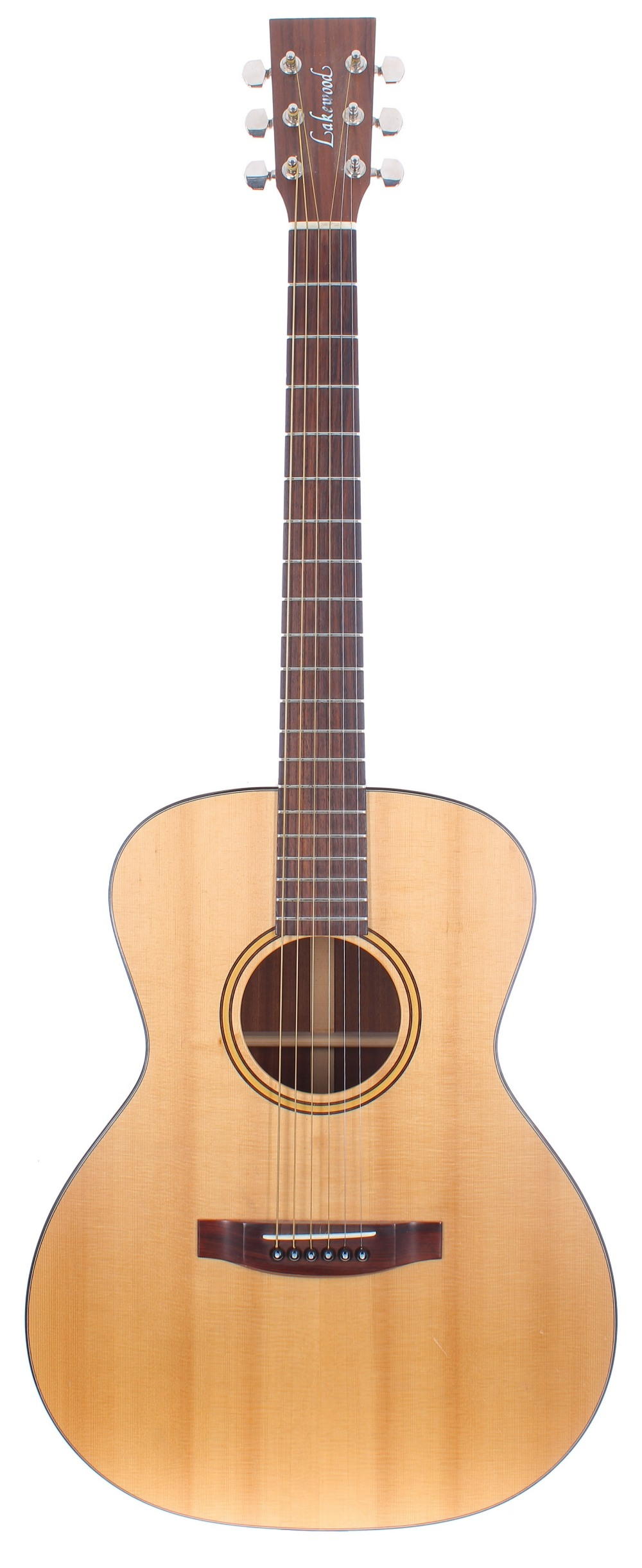 2000 Lakewood Model M-1 acoustic guitar; Back and sides: mahogany; Top: spruce, minor marks;