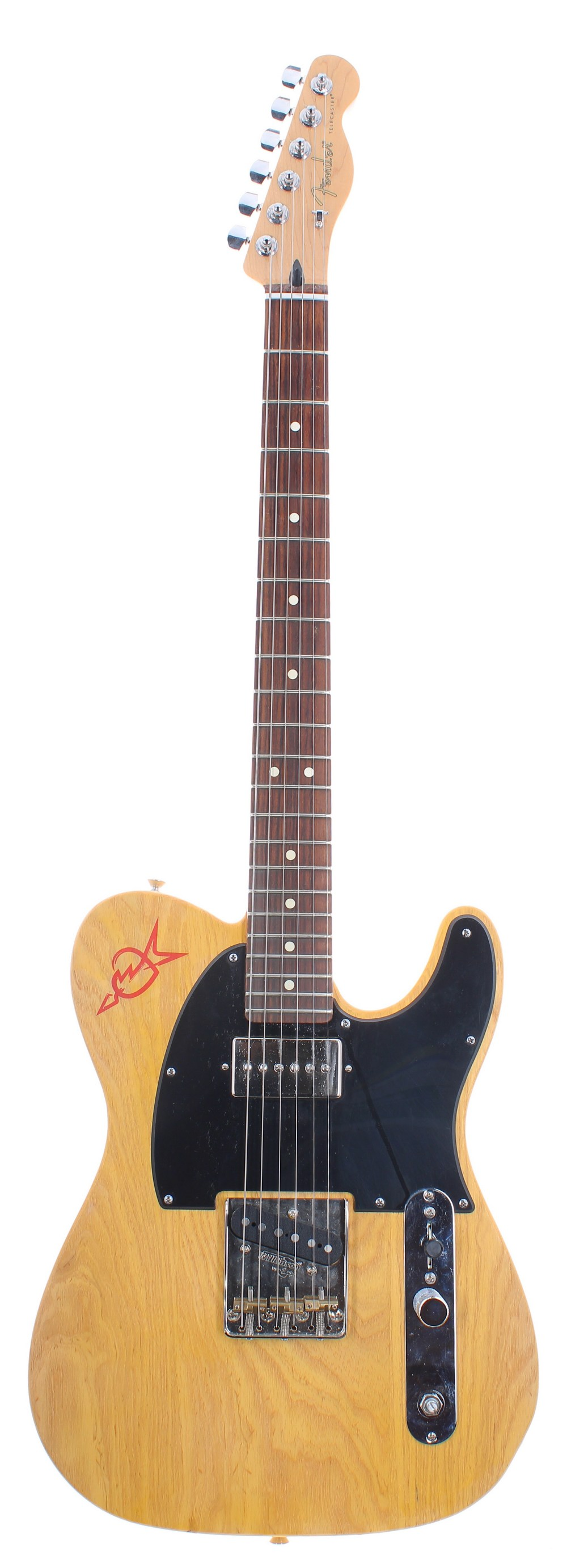 Custom build T Type electric guitar comprising a G & B Guitar and Bass T Type body, a 2015 Fender