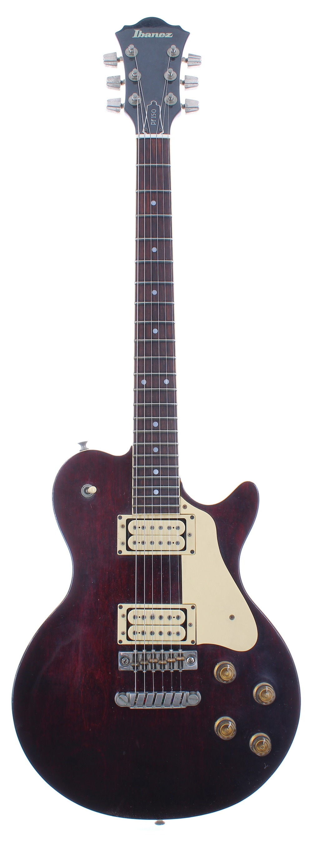 1980 Ibanez Performer Series PF150 electric guitar, made in Japan, ser. no. E8xxxx6; Finish: wine