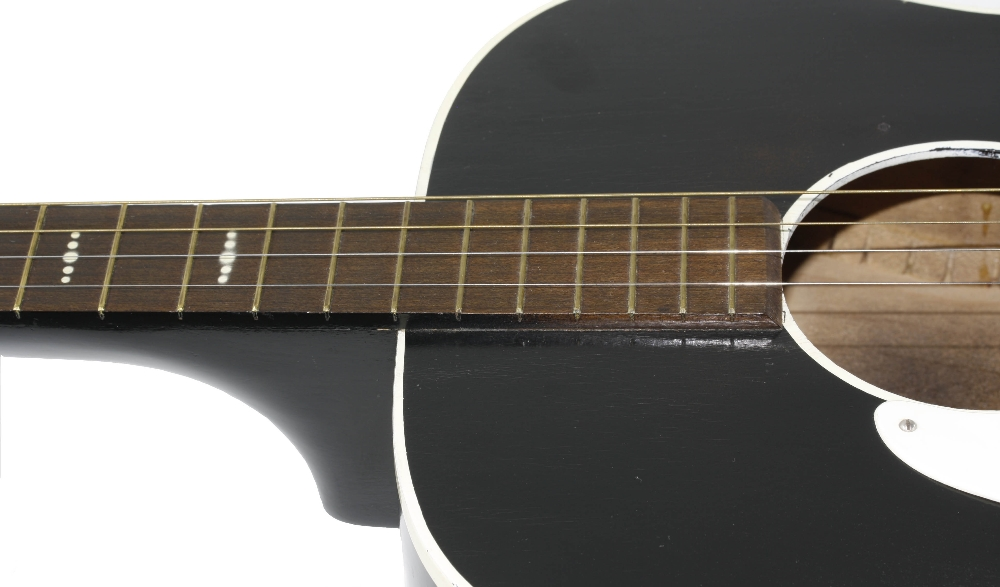 1960s Harmony Stella H929 left handed conversion tenor guitar, made in USA; Finish: sunburst, re- - Image 8 of 11