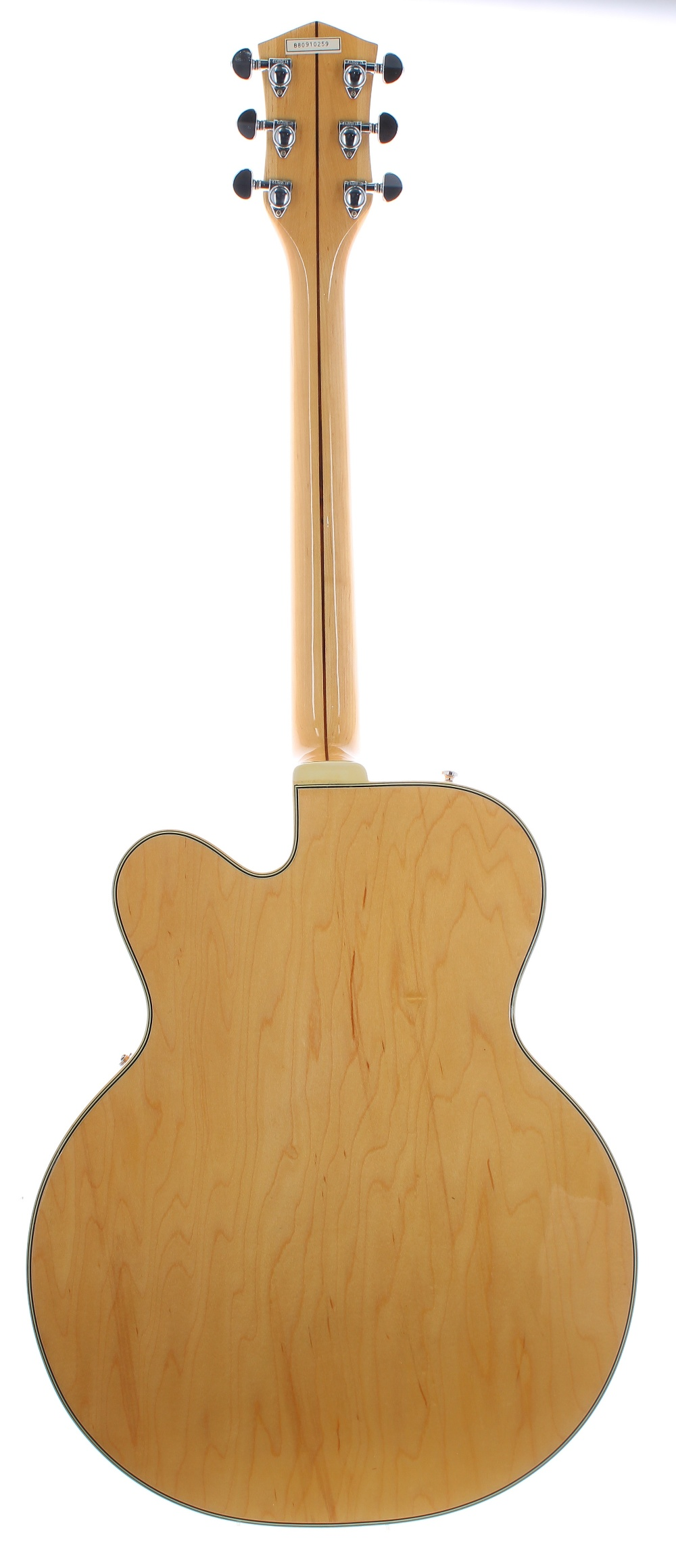 1980s Hondo HL5FBB Fat Boy hollow body electric guitar, ser. no. 88xxxxx9; Finish: natural; - Image 2 of 3