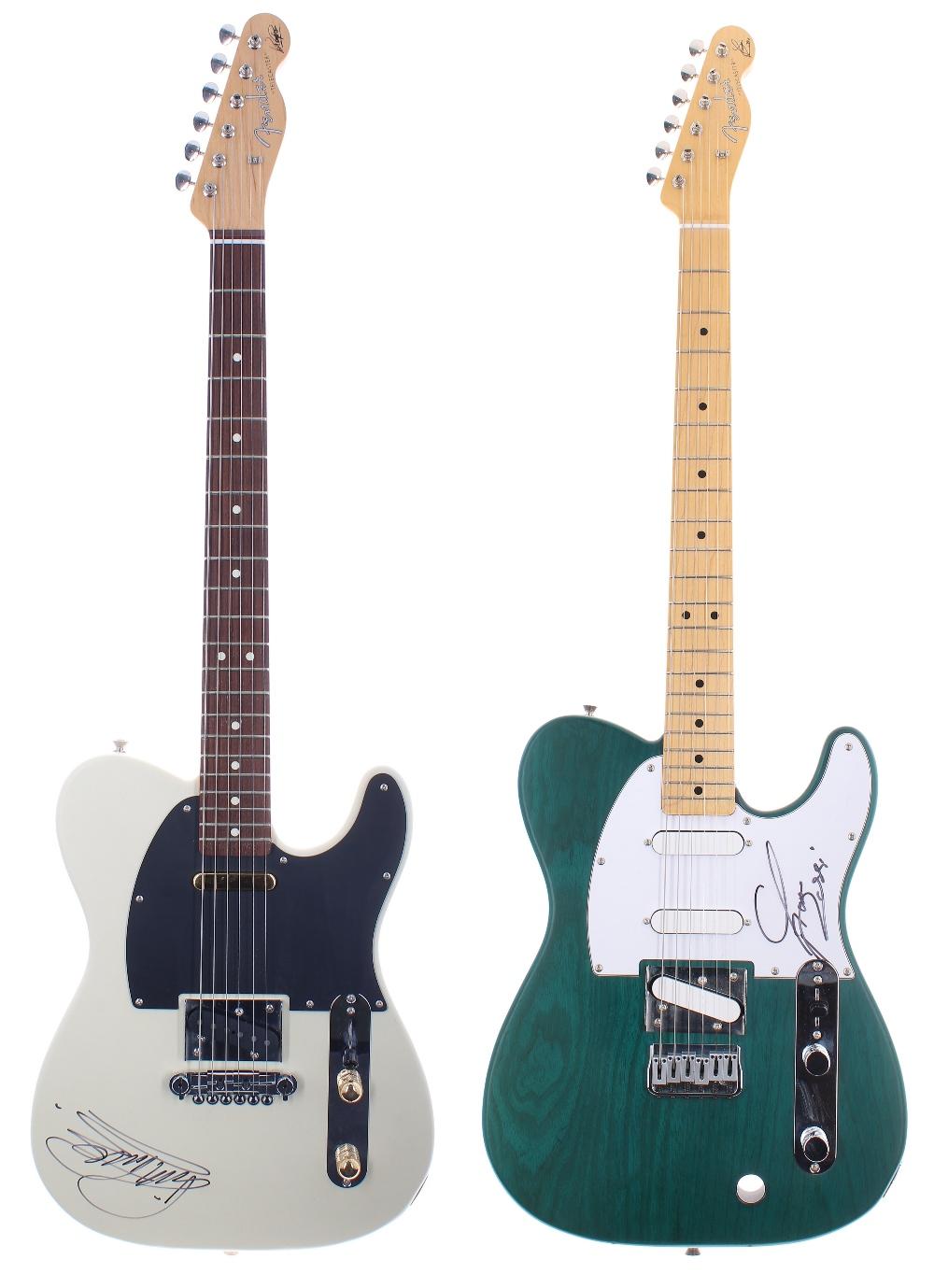 Status Quo - Francis Rossi and Rick Parfitt Signature Edition Fender Telecaster electric guitars,