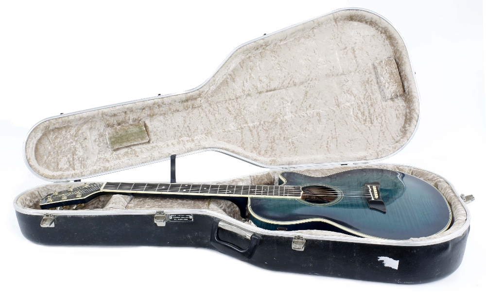 Takamine EF591 MB electro-acoustic guitar, made in Japan; Finish: blue burst, minor surface - Image 3 of 3