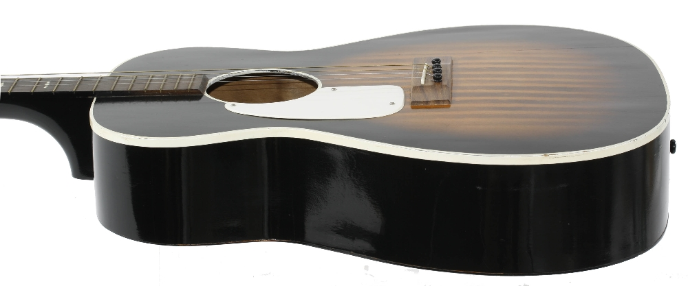 1960s Harmony Stella H929 left handed conversion tenor guitar, made in USA; Finish: sunburst, re- - Image 4 of 11