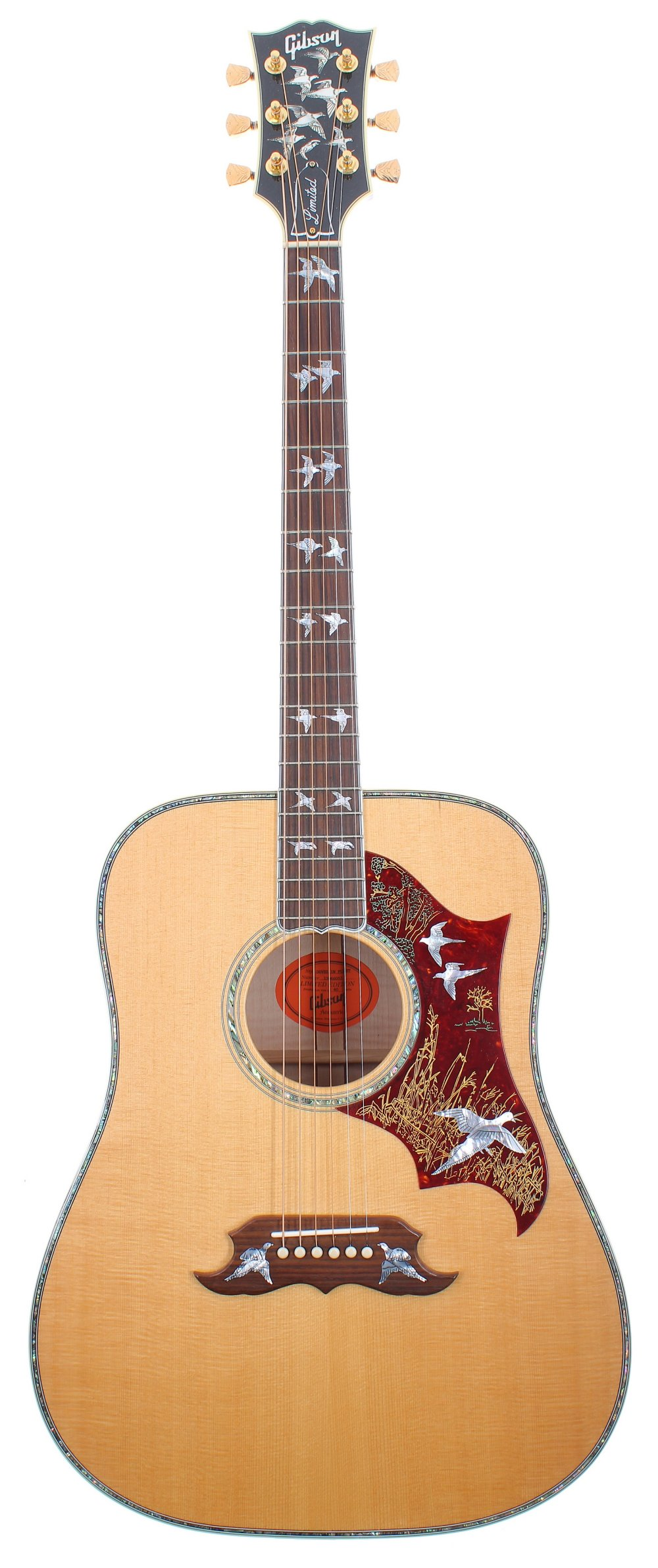 2016 Gibson Limited Edition Doves in Flight acoustic guitar, made in USA, ser. no. 1xxx6xx3; Back