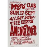 The Amen Corner - rare hand produced poster by Sheffield legend Colin Duffield, signed and stamped