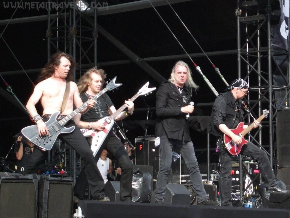 Tim Nibbs Carter (Saxon) - 2006 Dean Demonator bass guitar, made in Korea, ser. no. US06072997, used - Image 4 of 4