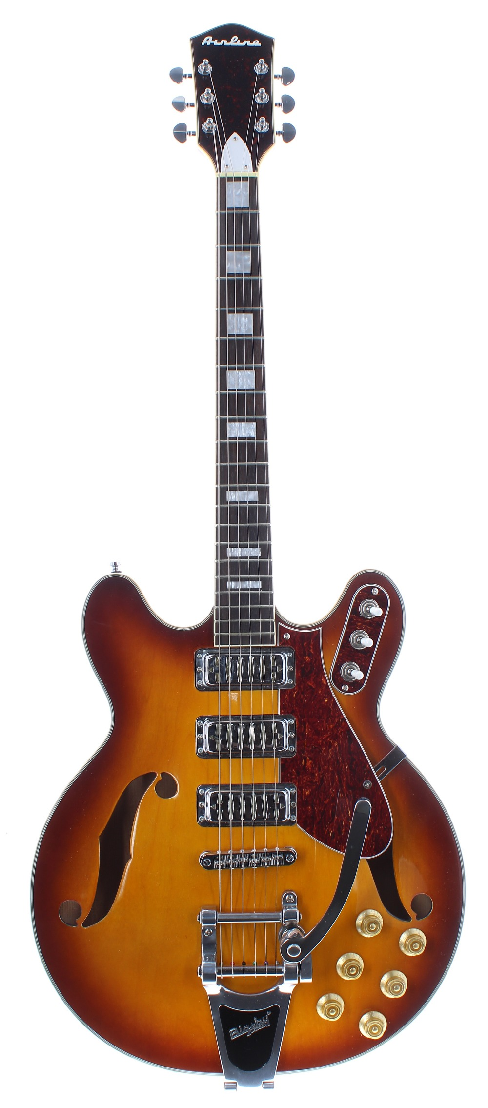 2016 Eastwood Airline H78 semi-hollow body electric guitar, made in China, ser. no. 16xxxxx7;