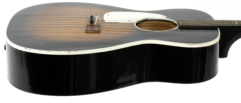 1960s Harmony Stella H929 left handed conversion tenor guitar, made in USA; Finish: sunburst, re- - Image 5 of 11