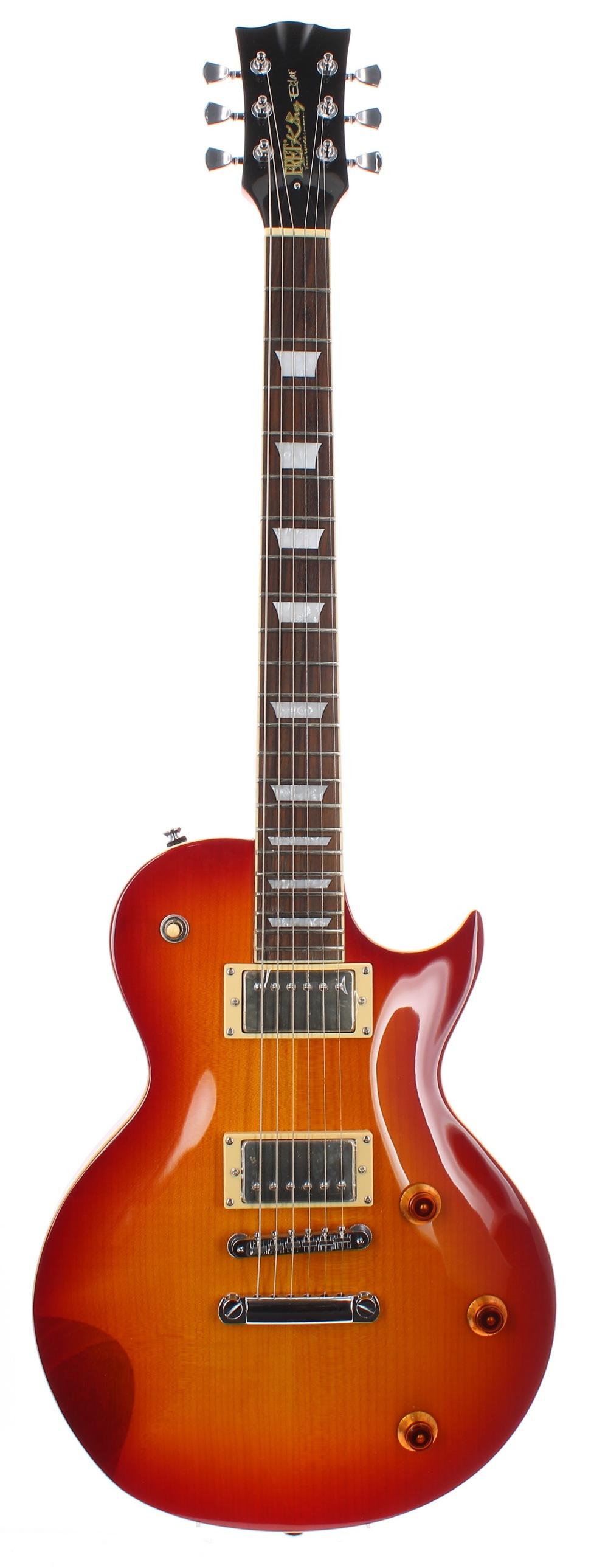 Fretking Black Label Eclat Standard electric guitar; Finish: cherry sunburst; Fretboard: rosewood;