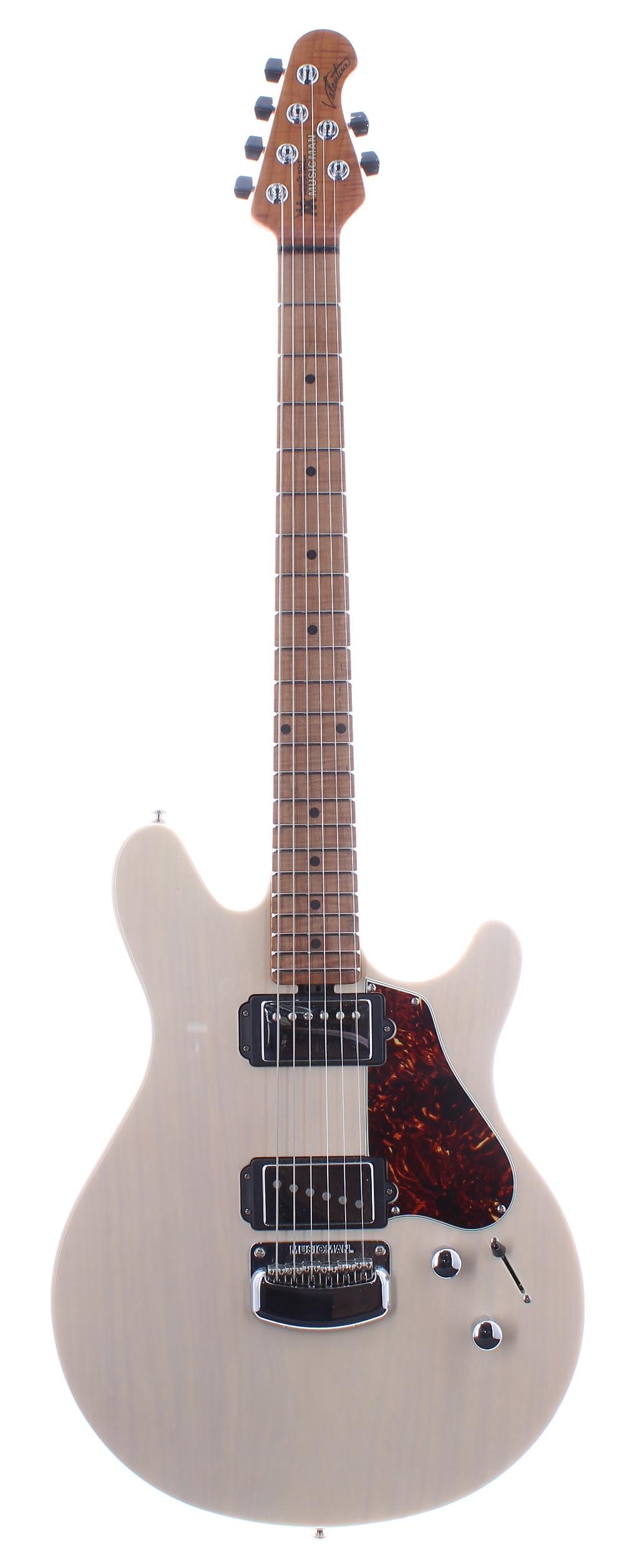 2016 Ernie Ball Music Man Valentine electric guitar, made in USA, ser. no. G7xxx5; Finish: trans