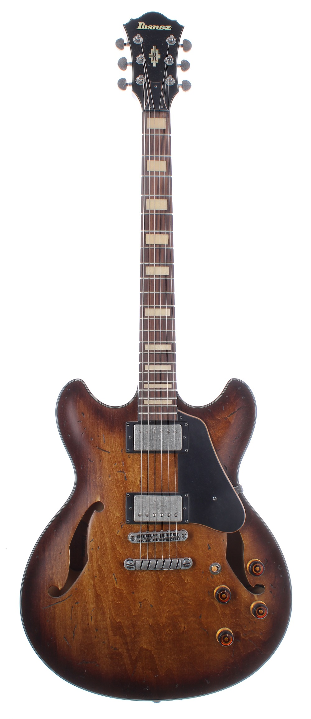 2016 Ibanez Artcore ASV10A-TCL-12-01 semi-hollow body electric guitar, made in China, ser. no.