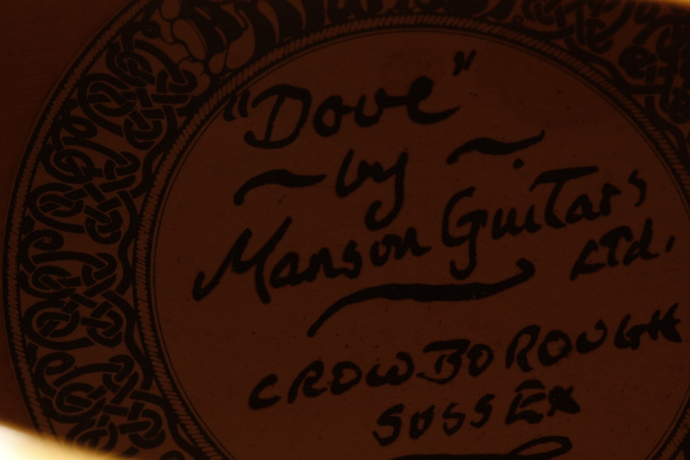 1984 Andy Manson Dove archtop guitar, made in Crowbrough, Sussex, England; Finish: sunburst, small - Image 11 of 11