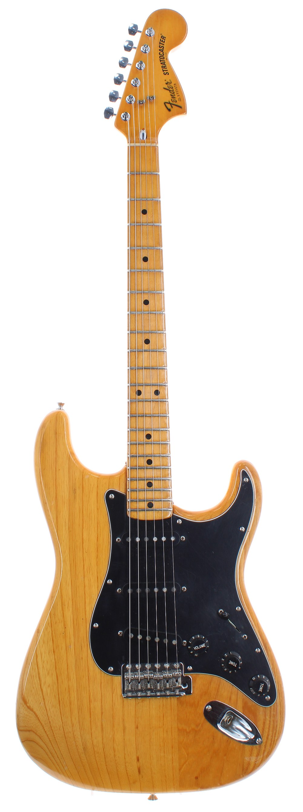 1979 Fender Stratocaster electric guitar, made in USA, ser. no. S9xxxx9; Finish: natural, minor
