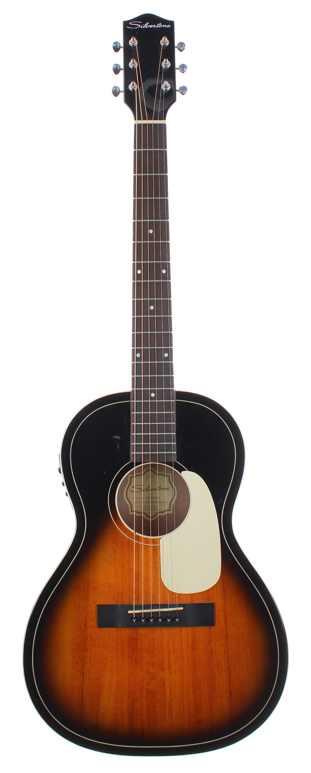 2016 Silvertone 604E/AVS electro-acoustic guitar, made in Indonesia, ser. no. SI16xxxxxx1; Finish: