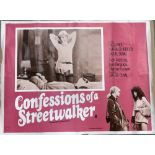 Three erotic UK quad movie posters for 'Confessions of a Streetwalker', 'Come Play with Me' and '