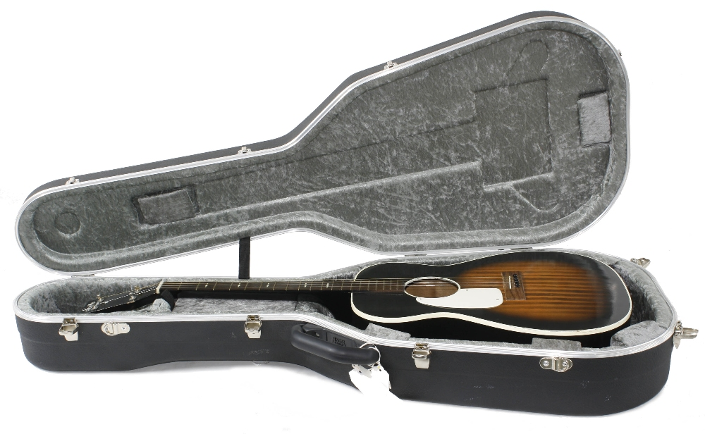 1960s Harmony Stella H929 left handed conversion tenor guitar, made in USA; Finish: sunburst, re- - Image 3 of 11