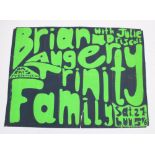 Original concert poster for Brian Auger Trinity Family, with Julie Driscoll, at Leeds University,