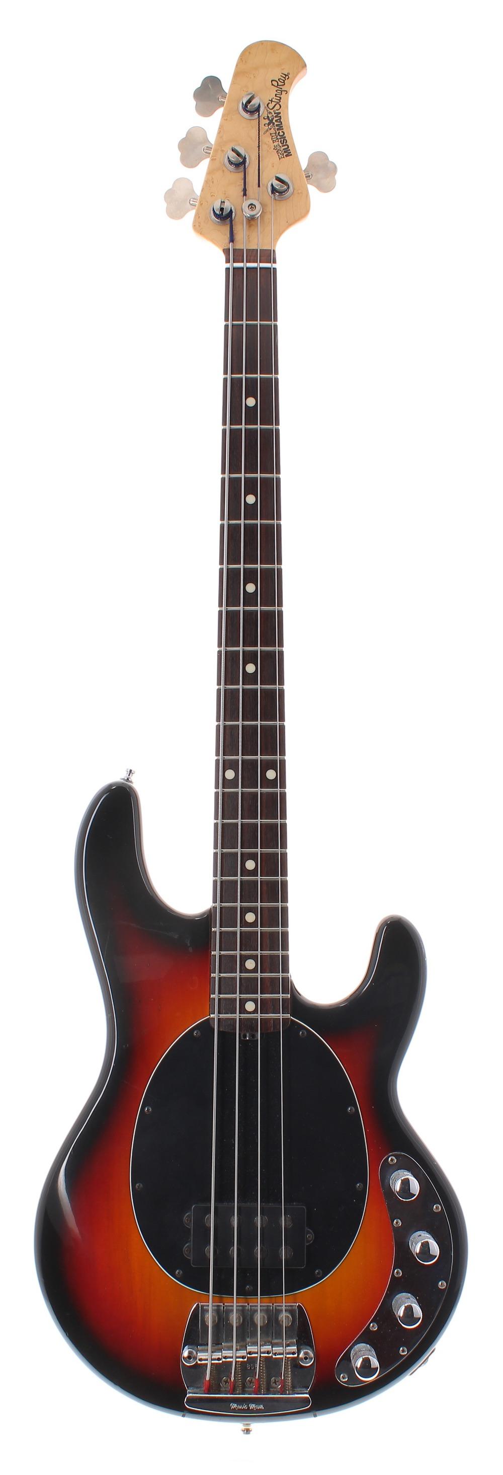 Early 1990s Ernie Ball Music Man Stingray bass guitar, made in USA, ser. no. 8xxx6; Finish: