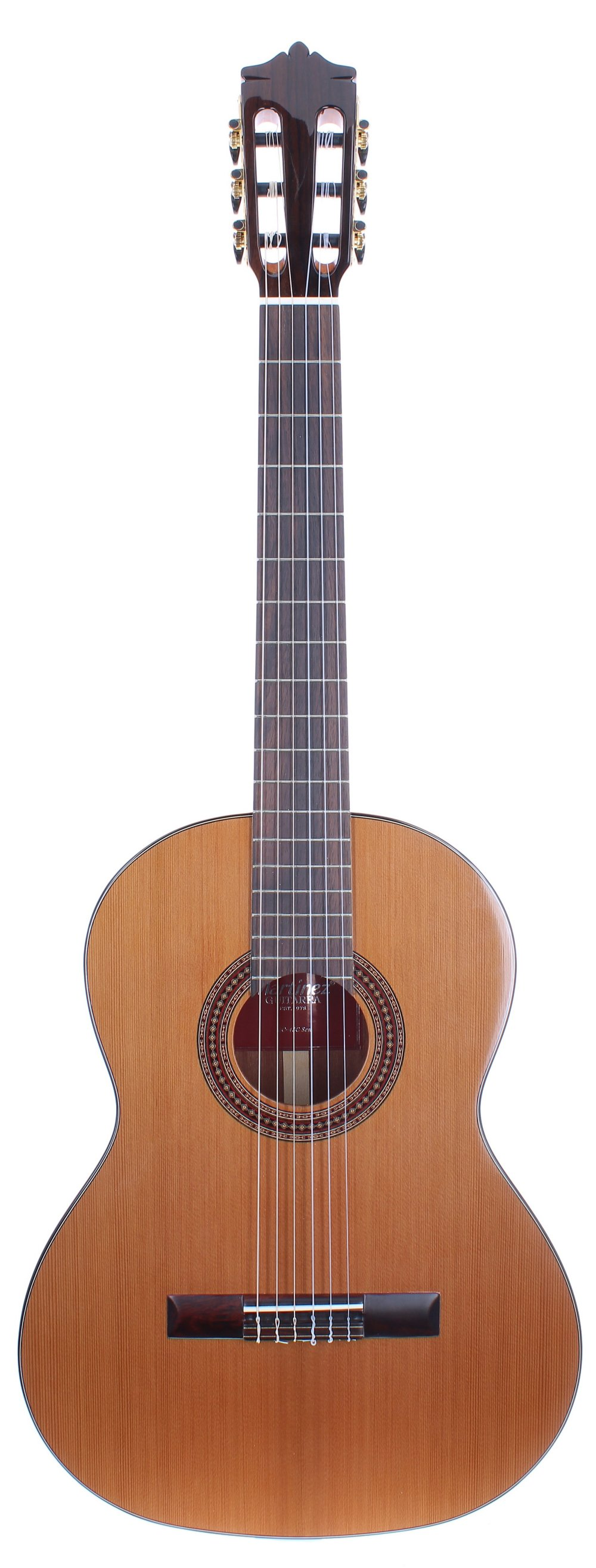 Martinez MC-48C Senorita seven-eighth size classical guitar; Back and sides: mahogany; Top: