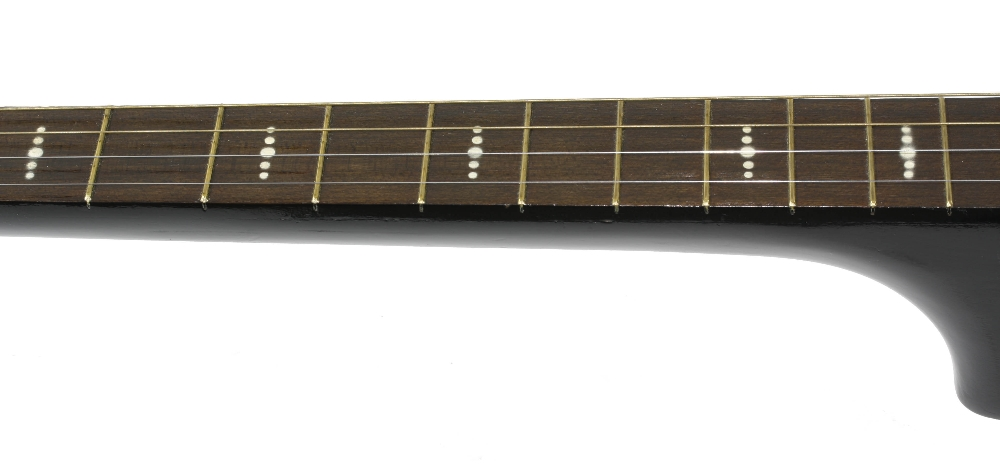 1960s Harmony Stella H929 left handed conversion tenor guitar, made in USA; Finish: sunburst, re- - Image 7 of 11
