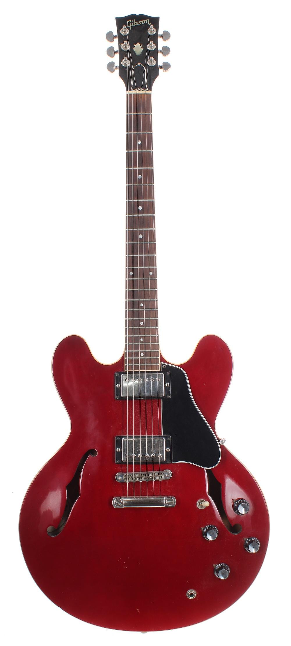 1989 Gibson ES335 Dot semi-hollow body electric guitar, made in USA, ser. no. 8xxx9xx5; Finish:
