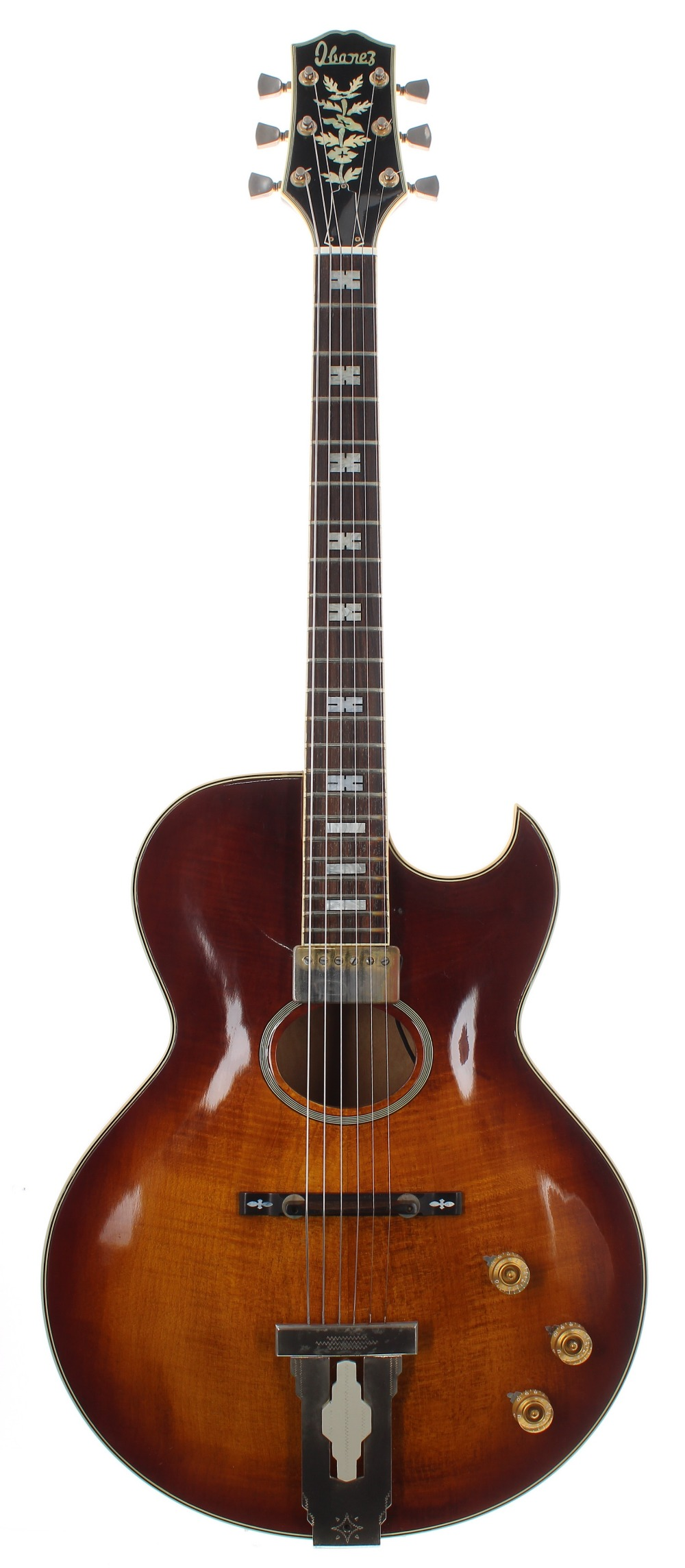 1977 Ibanez Howard Roberts 2453 hollow body electric guitar, made in Japan, ser. no. B7xxxx6;