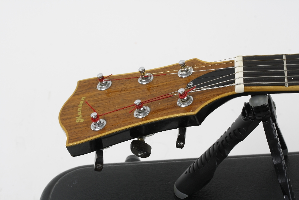 1984 Andy Manson Dove archtop guitar, made in Crowbrough, Sussex, England; Finish: sunburst, small - Image 4 of 11