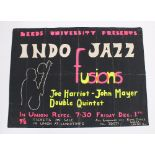Original 'Indo Jazz Fusions' concert poster, featuring the Joe Harriot - John Mayer Double