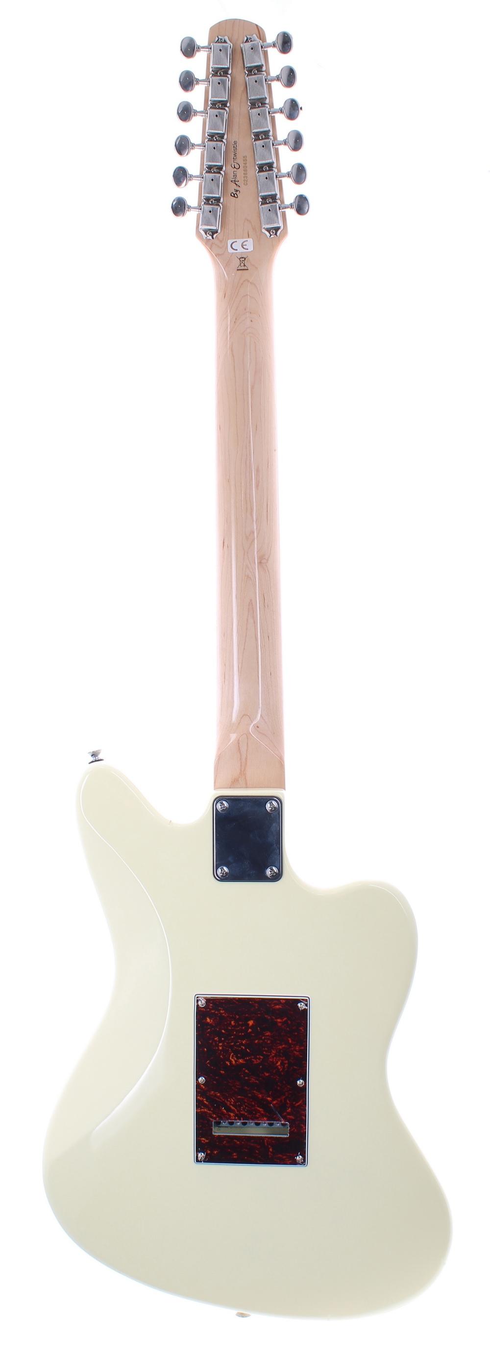 Revelation by Alan Entwistle RJT60/12 left handed twelve string electric guitar; Finish: ivory; - Image 2 of 2