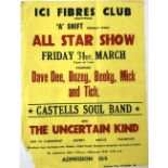 The Uncertain Kind - eight original concert posters featuring The Uncertain Kind at various Welsh