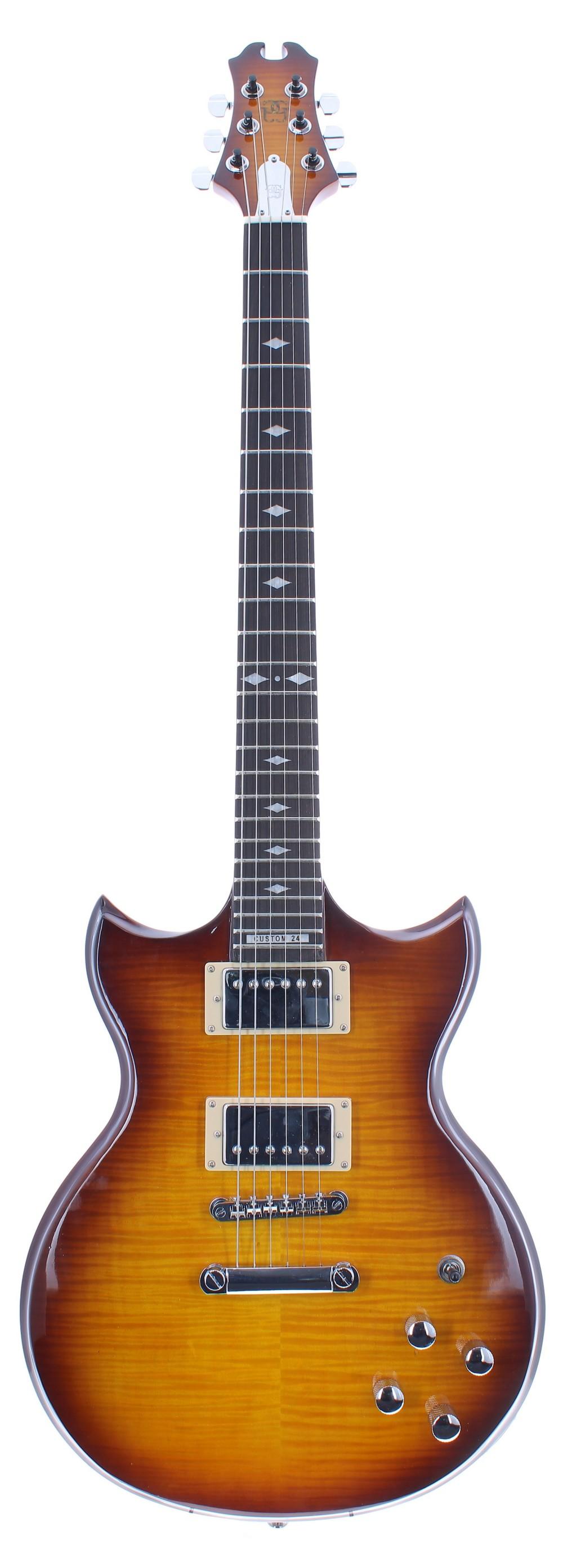 Kenn Gordon Custom 24 SG electric guitar, ser. no. ATxxxx1; Finish: honey burst; Fretboard: ebony;