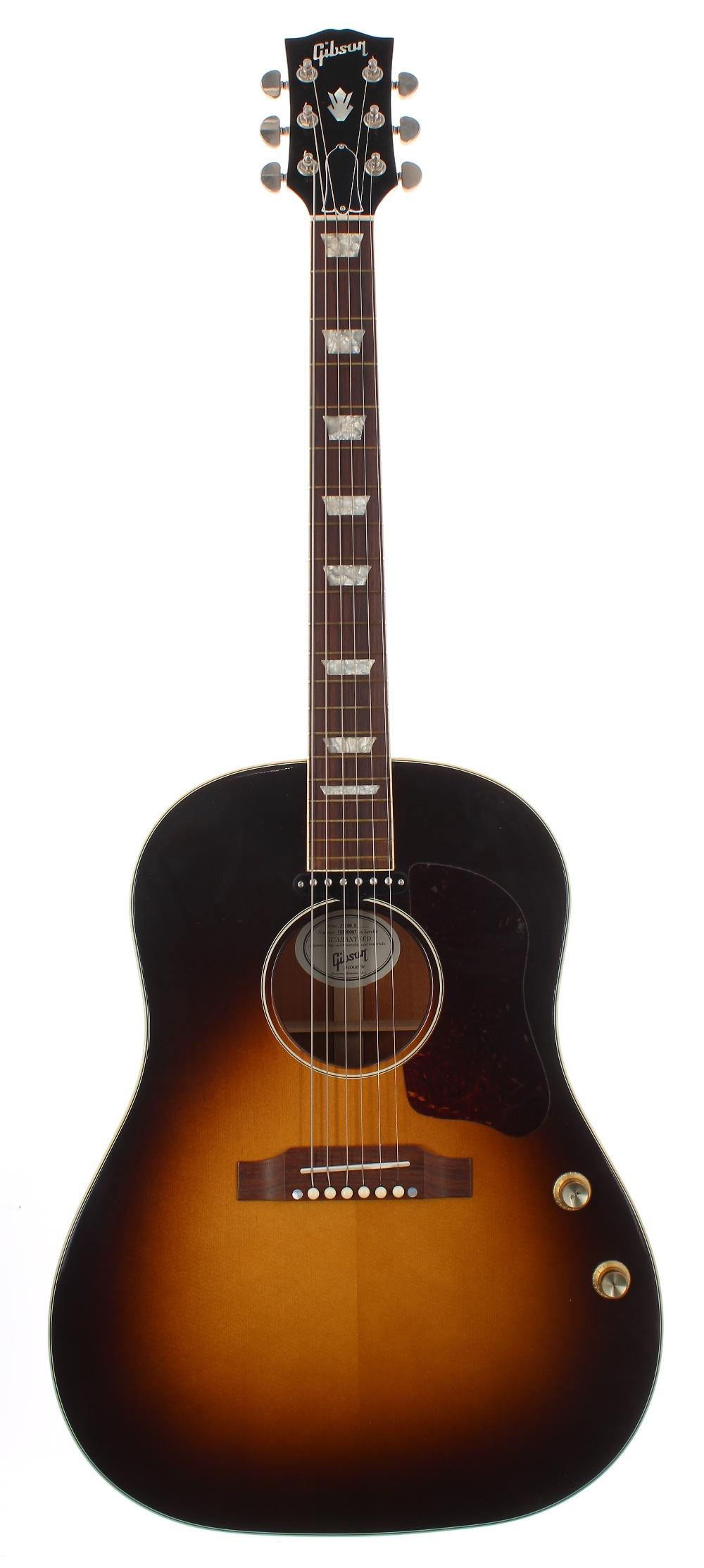 2010 Gibson J-160E electro-acoustic guitar, made in USA, ser. no. 1xxx0xx7; Finish: vintage