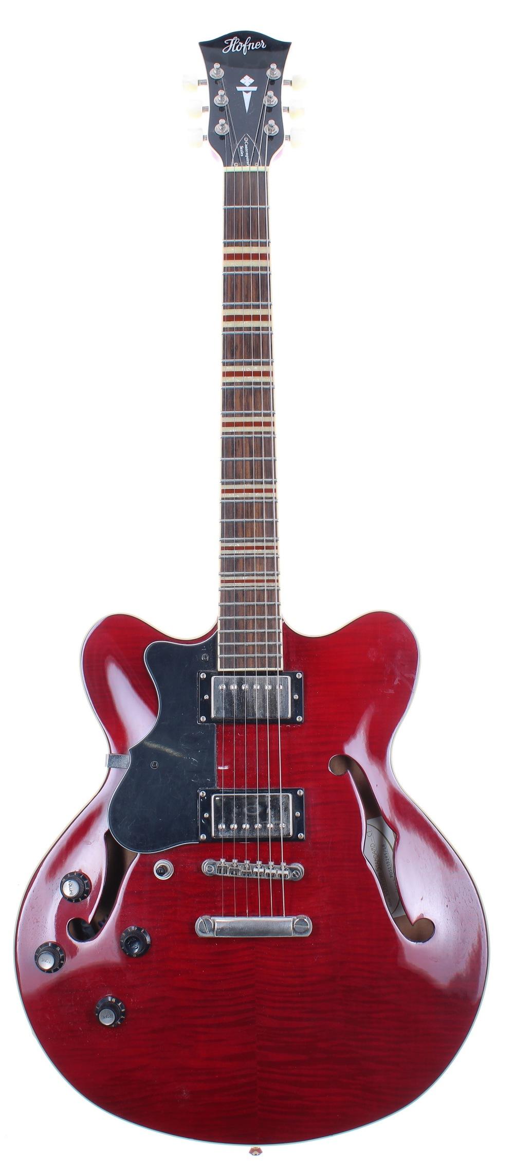 2005 Hofner Verythin Standard - CT left handed electric guitar, ser. no. P05xxxxxx/LH; Finish: